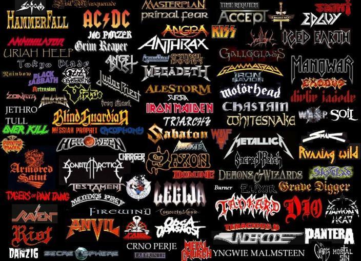 Списки рок групп в картинках